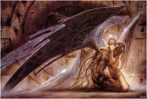 Angel holding Demon